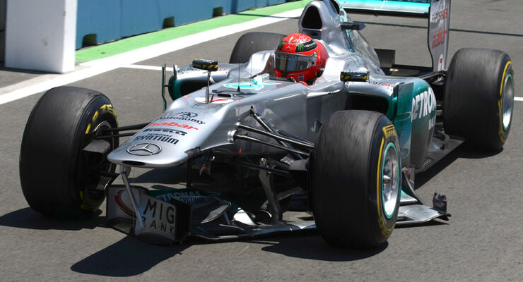 Michael Schumacher GP Europa Crashs 2011