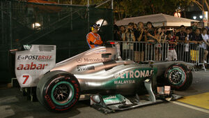 Michael Schumacher GP Singapur Crashs 2011
