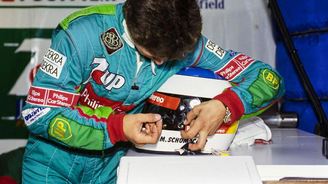 Michael Schumacher - Helm - Formel 1 - GP Belgien - Spa-Francorchamps - 1991