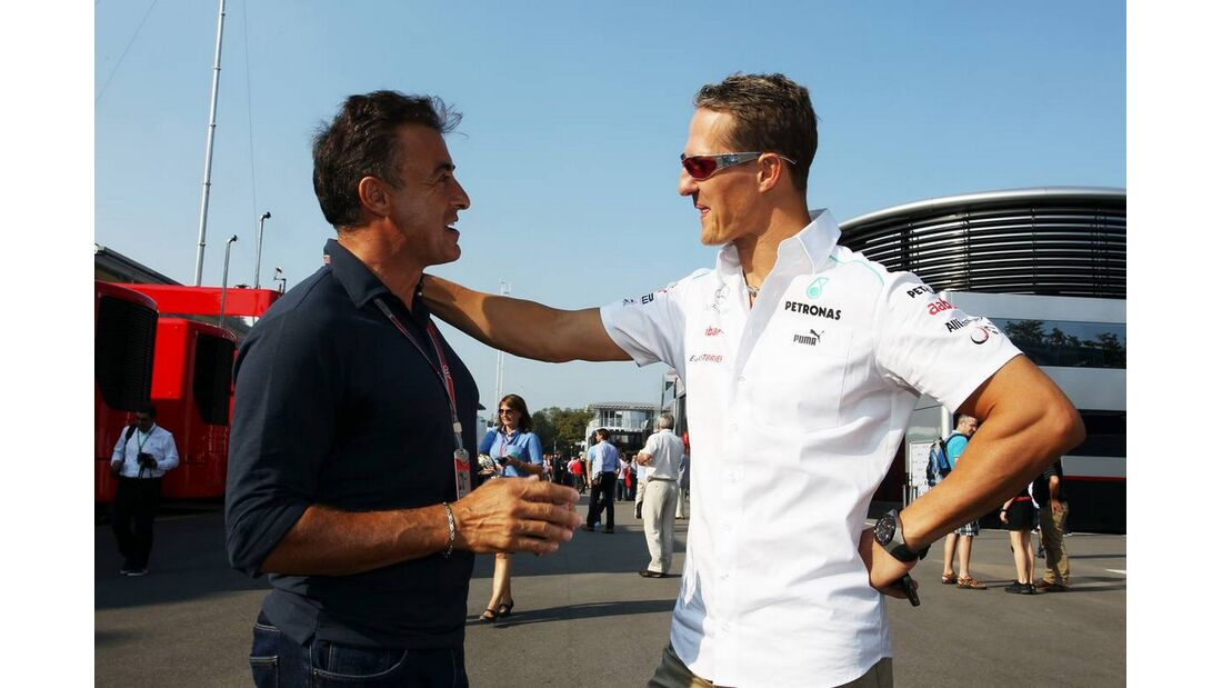 Michael Schumacher Jean Alesi - Formel 1 - GP Italien - 08. September 2012