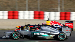 Michael Schumacher & Mark Webber - F1-Test - Barcelona 2012