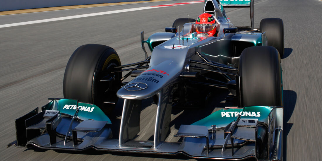 Michael Schumacher Mercedes 2012