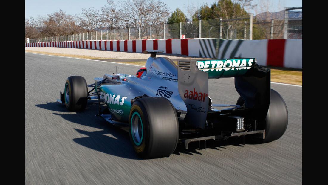 Michael Schumacher Mercedes AMG W03 2012