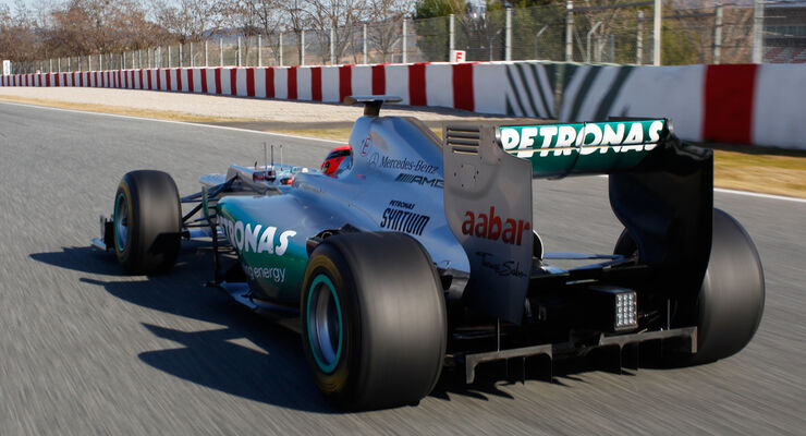 Michael Schumacher Mercedes AMG W03 2012