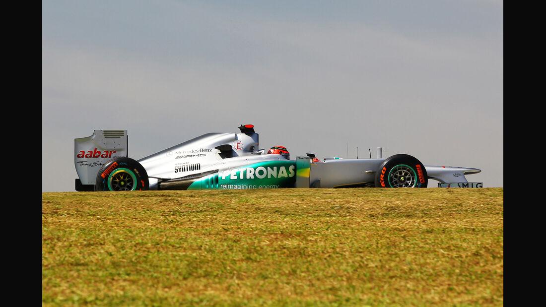 Michael Schumacher - Mercedes - Formel 1 - GP Brasilien - Sao Paulo - 23. November 2012