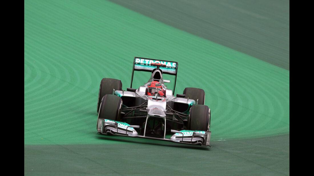 Michael Schumacher - Mercedes - Formel 1 - GP Brasilien - Sao Paulo - 24. November 2012