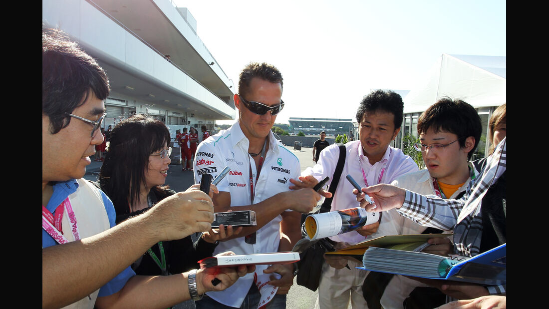 Michael Schumacher - Mercedes - Formel 1 - GP Japan - Suzuka - 5. Oktober 2012