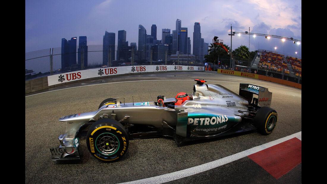 Michael Schumacher - Mercedes - Formel 1 - GP Singapur - 21. September 2012