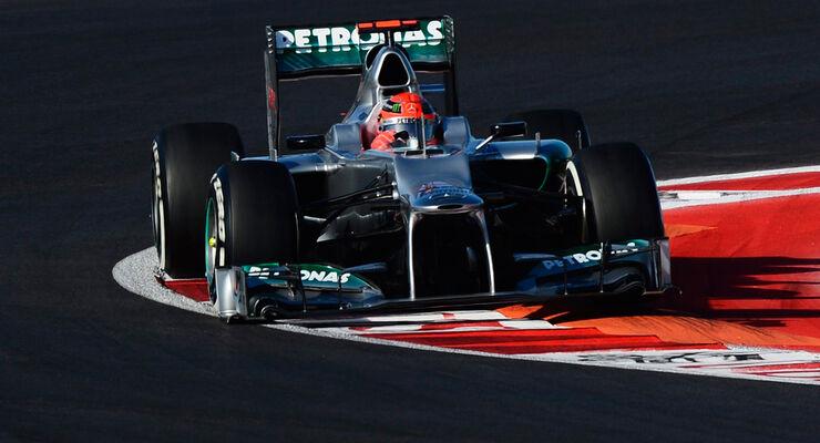 Michael Schumacher - Mercedes - Formel 1 - GP USA - Austin - 17. November 2012