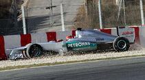 Michael Schumacher - Mercedes - Formel 1-Test - Barcelona - 2012