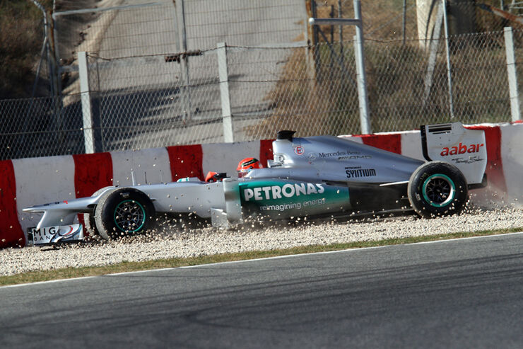 Michael Schumacher - Mercedes - Formel 1-Test - Barcelona - 2012