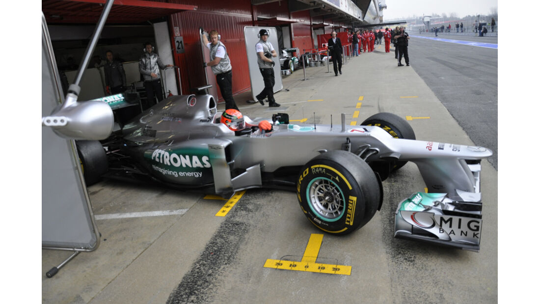 Michael Schumacher - Mercedes - Formel 1-Test Barcelona - 4. März 2012