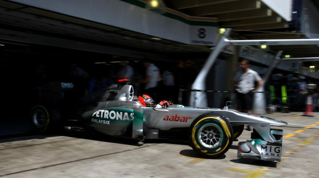 Michael Schumacher Mercedes GP Brasilien 2011
