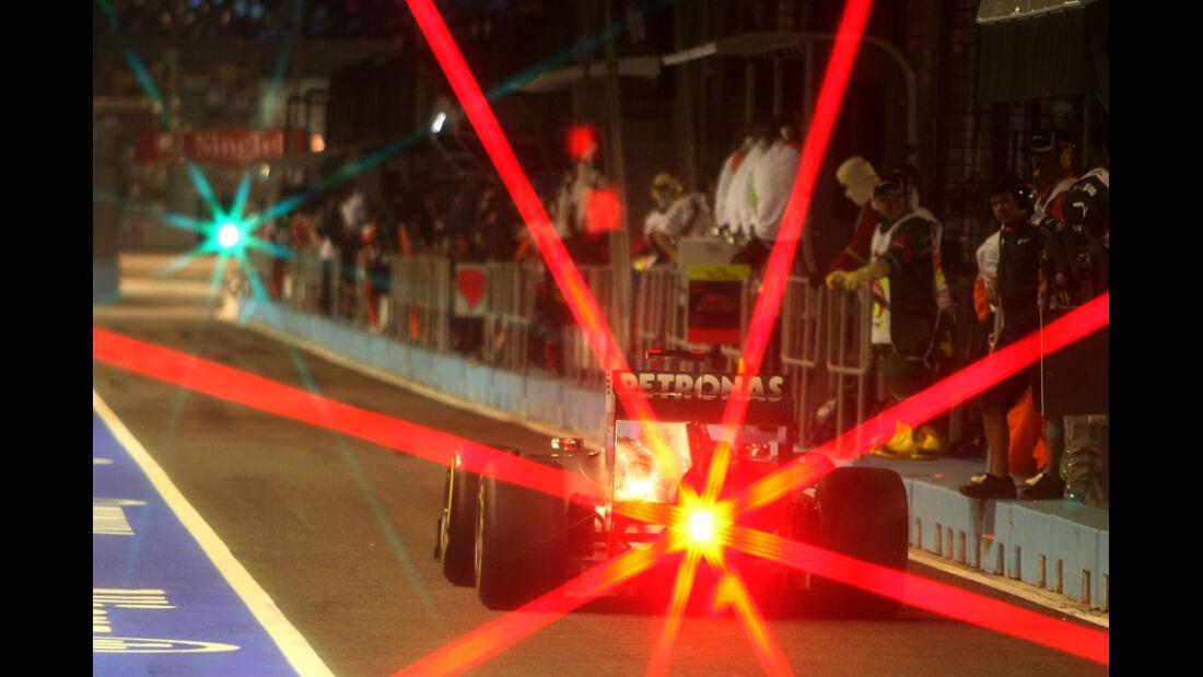 Michael Schumacher Mercedes GP Singapur 2011
