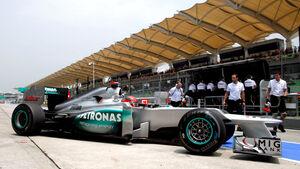 Michael Schumacher Mercedes W03 2012