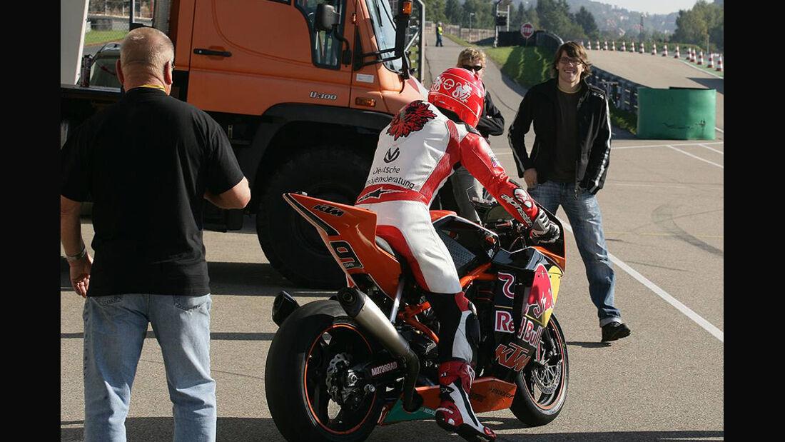Michael Schumacher Motorrad Test Sachsenring