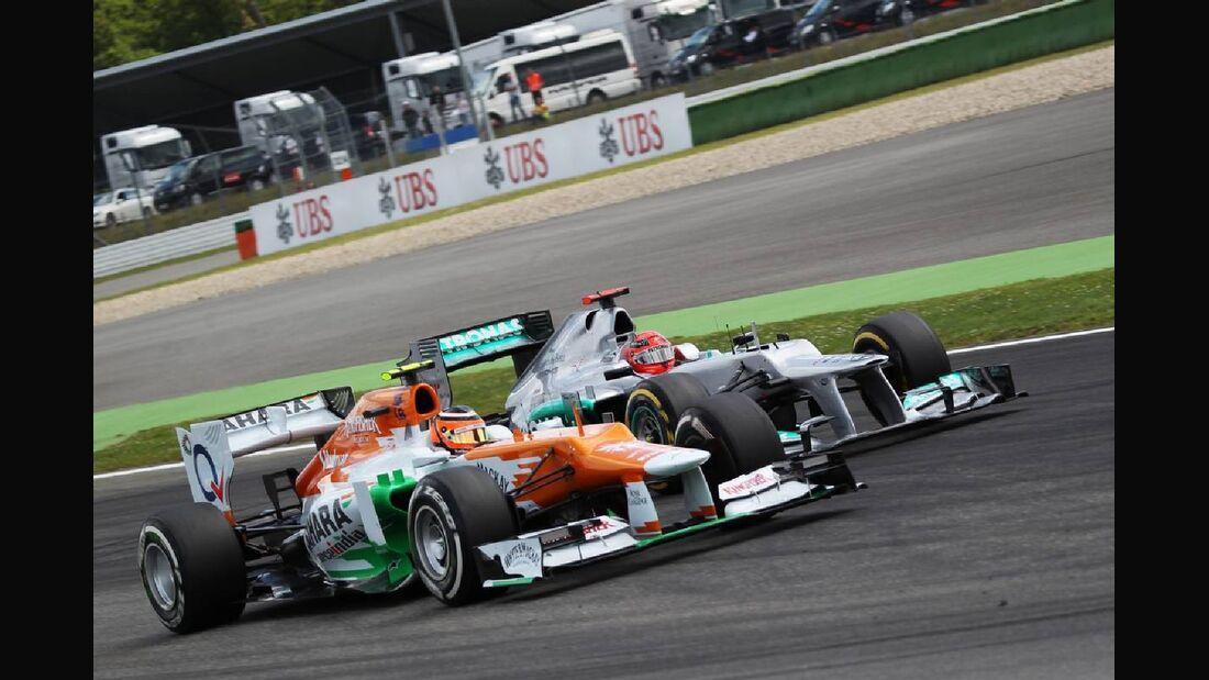 Michael Schumacher Nico Hülkenberg - Formel 1 - GP Deutschland - 22. Juli 2012