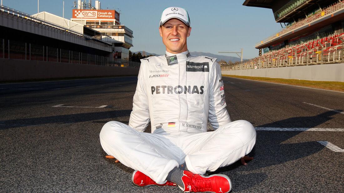 Michael Schumacher Porträt Barcelona 2012