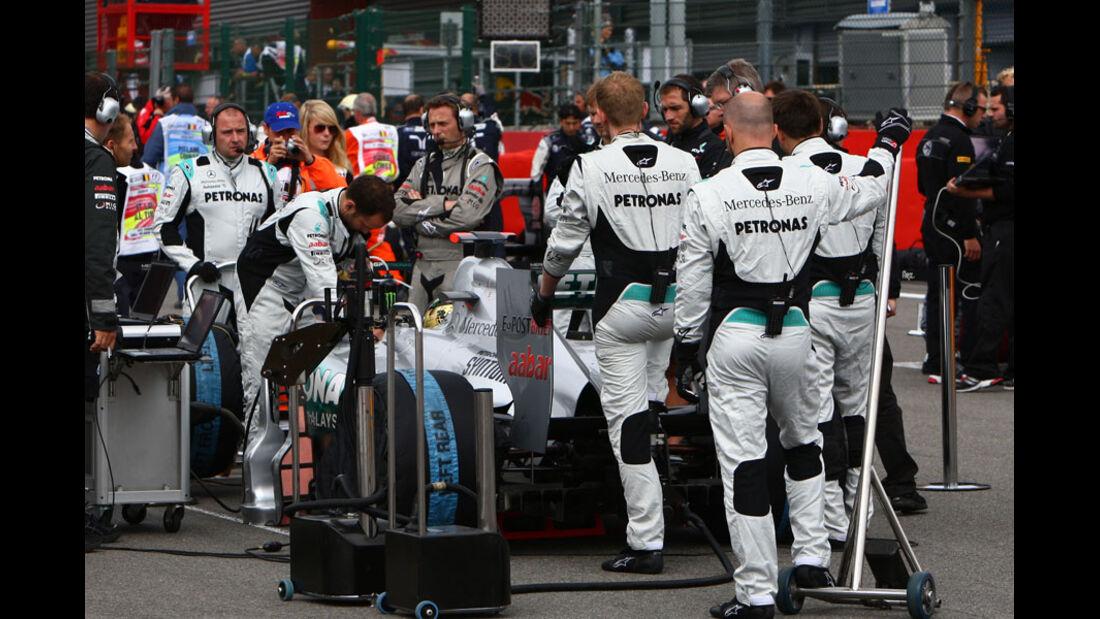 Michael Schumacher Rennen GP Belgien 2011