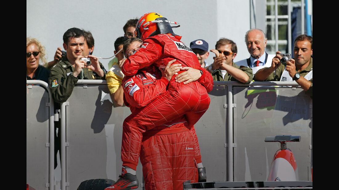 Michael Schumacher - Ross Brawn - Ferrari