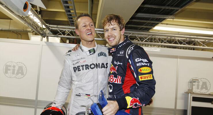 Michael Schumacher & Sebastian Vettel - GP Brasilien 2012