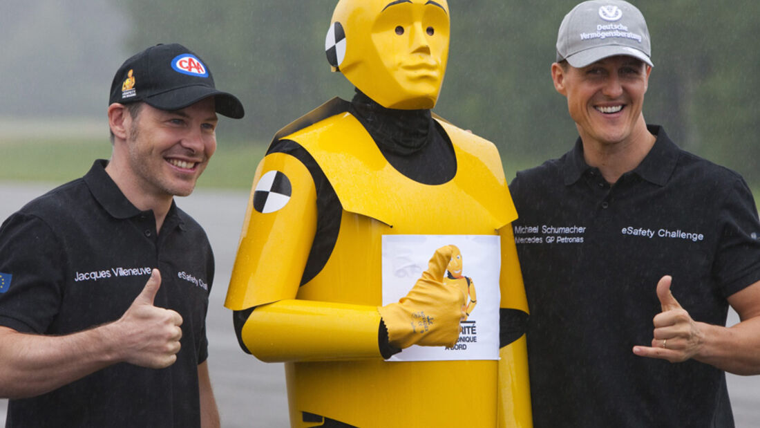 Michael Schumacher und Jacques Villeneuve