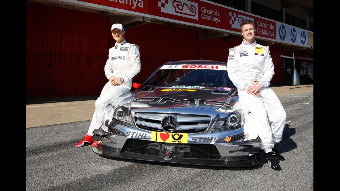 Michael und Ralf Schumacher, Mercedes C Coupè DTM