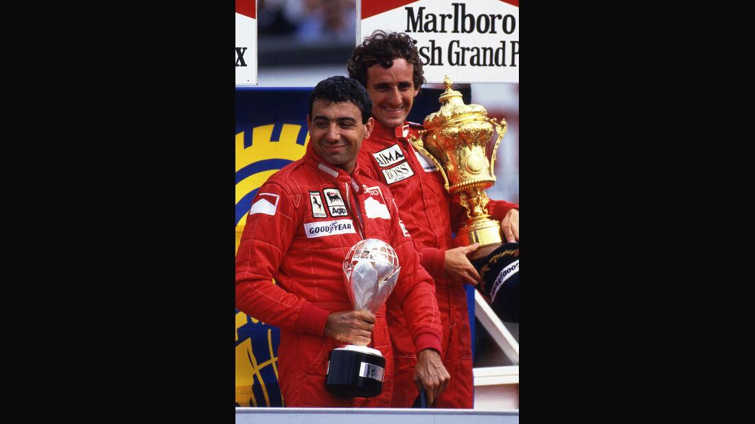 Michele Alboreto - Ferrari - Alain Prost - McLaren - Silverstone 1985