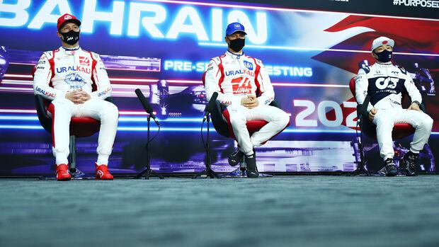 Mick Schumacher, Nikita Mazepin & Yuki Tsunoda - GP Bahrain 2021