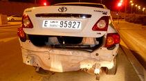 Mietwagen-Crash