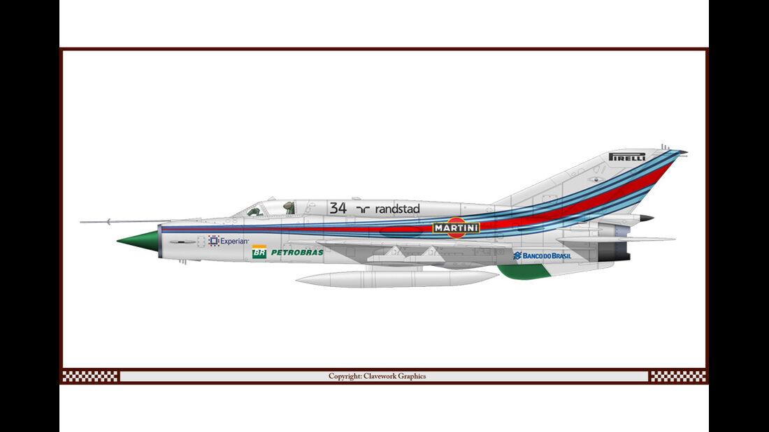 Mig 21 - Williams - Racing-Planes - 2015