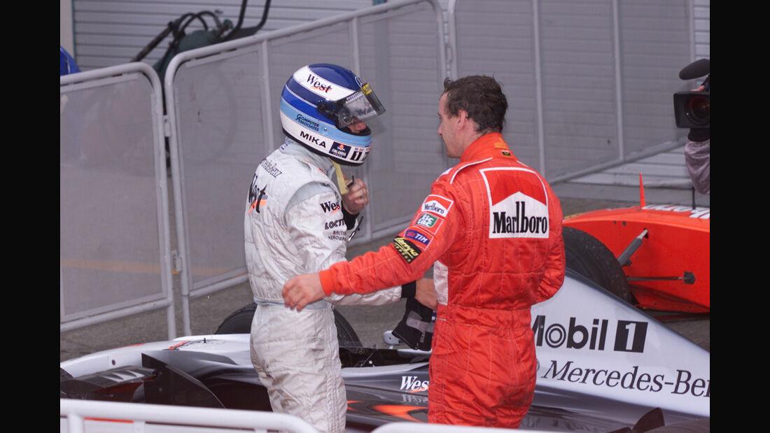 Mika Häkkinen & Eddie Irvine - GP Japan 1999