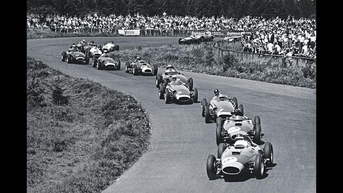 Mike Hawthorn - Ferrari D50 - GP Deutschland 1957 - Nürburgring - Startrunde