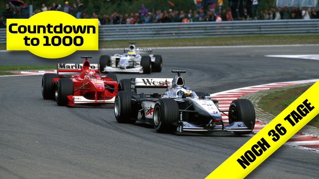 Miki Häkkinen - McLaren - Michael Schumacher - Ferrari - GP Belgien 2000