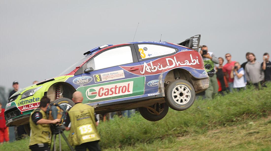 Mikko Hirvonen, Rallye Polen 2009, Rallye-Sprünge