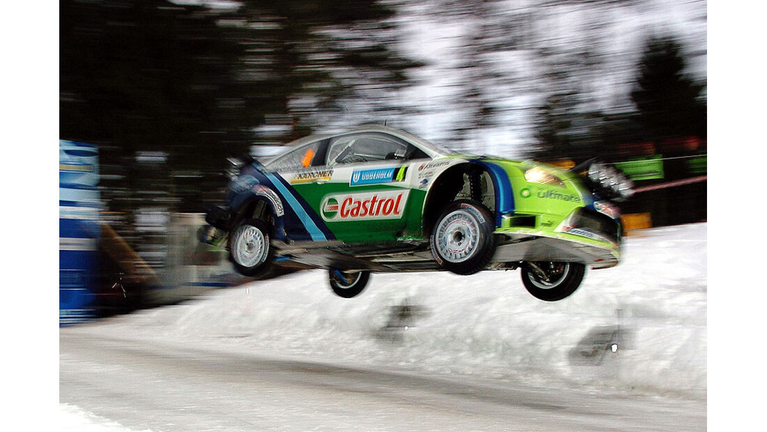 Mikko Hirvonen, Rallye Schweden 2006, Rallye-Sprünge