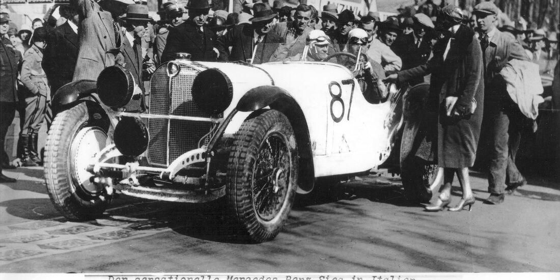 Mille Miglia 1931 Rudolf Carraciola Mercedes SSKL