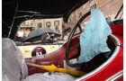 Mille Miglia 2010 - Cockpit mit Wischtuch und Regenschirm