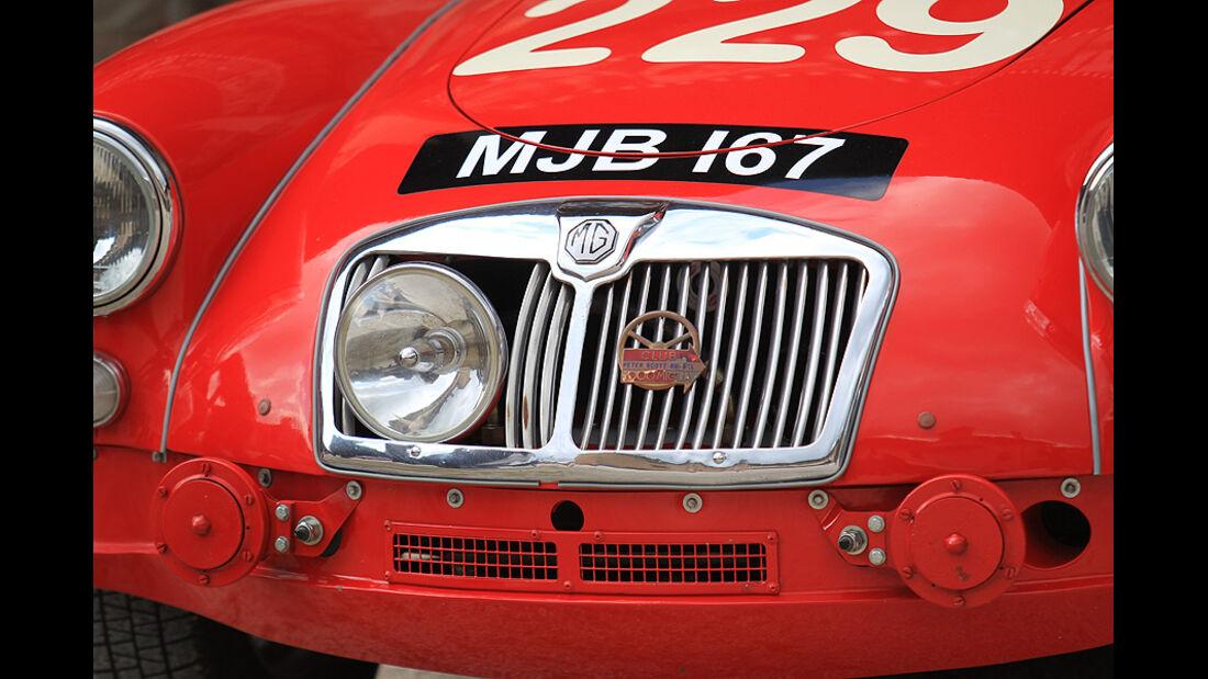Mille Miglia 2010 - MGA mit gut verstecktem Zusatzscheinwerfer