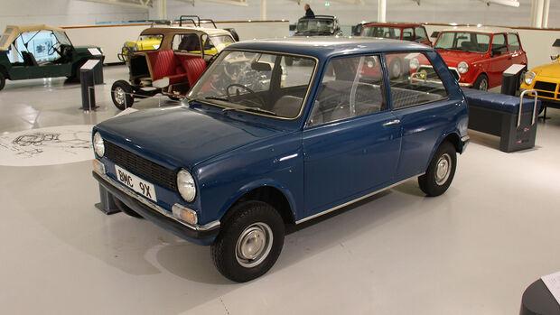 Mini 9X Prototyp im British Motor Museum