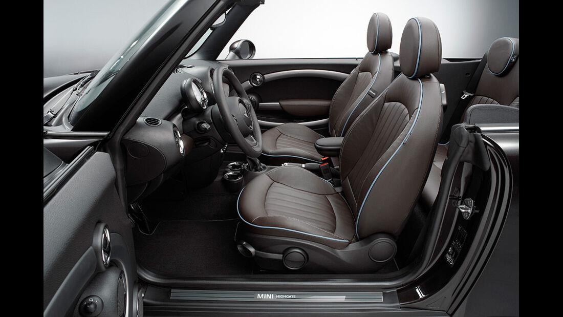 Mini Cabrio Highgate, Innenraum,Sitze