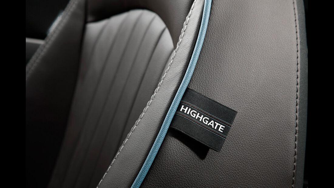 Mini Cabrio Highgate, Sitz