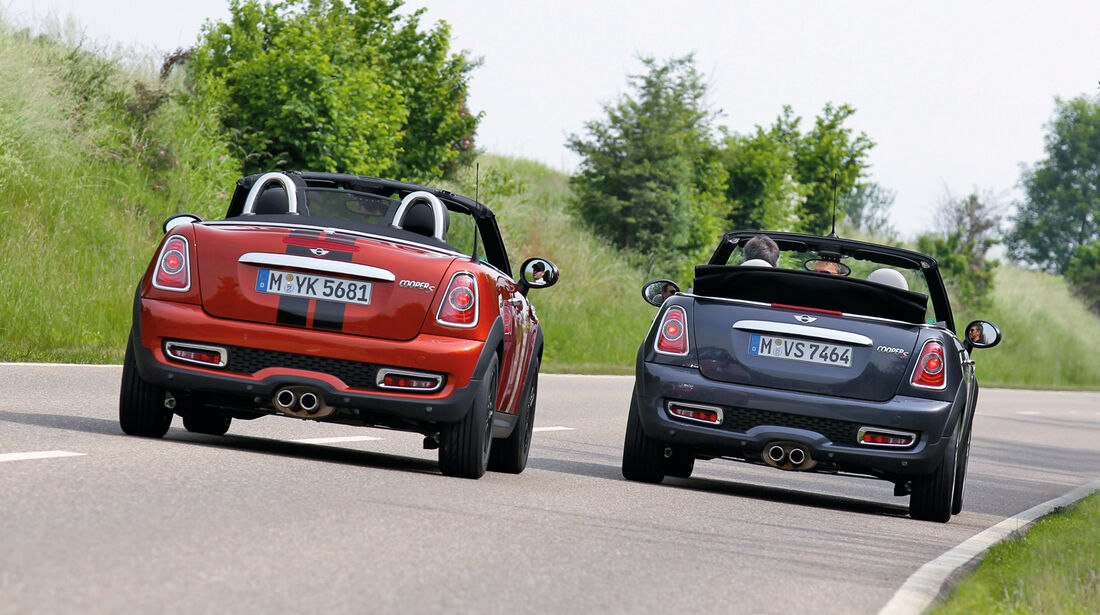 Mini Cabrio, Mini Roadster, Heckansicht