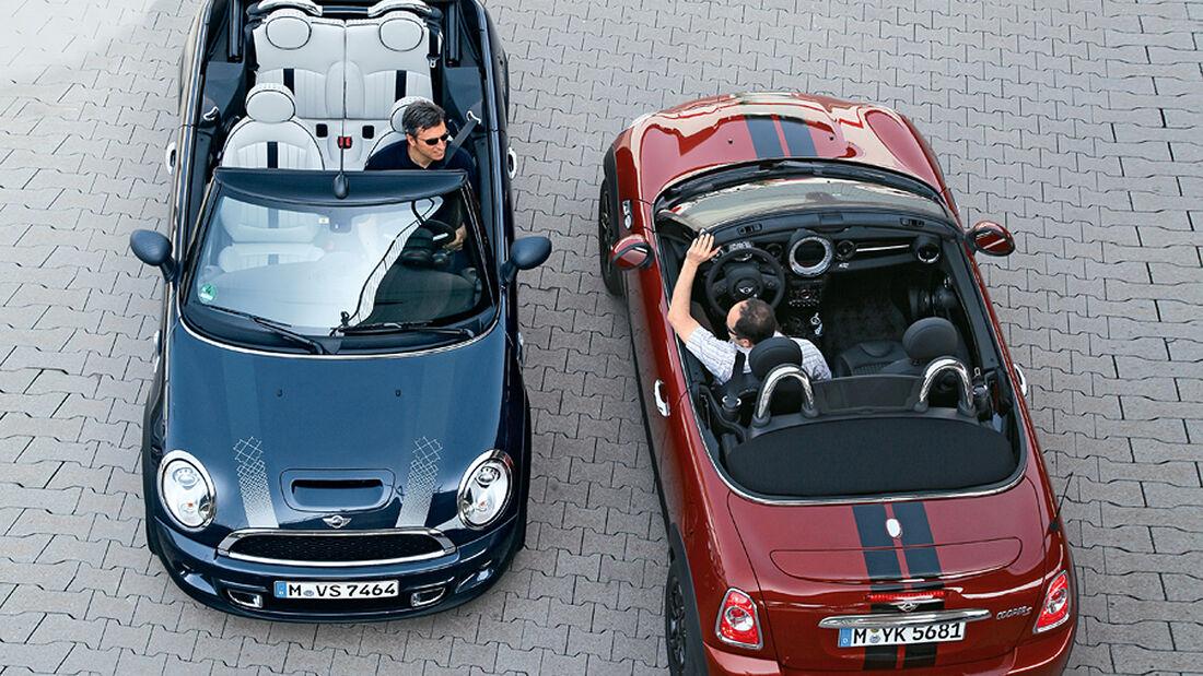 Mini Cabrio, von oben, Roadster