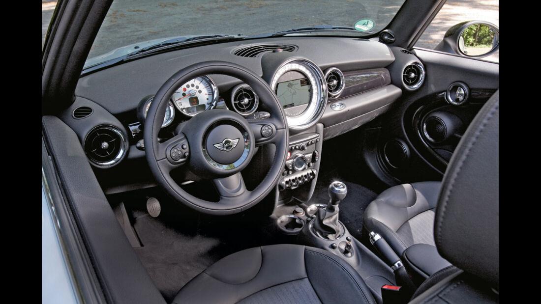 Mini Cooper Cabrio, Detail, Cockpit, Lenkrad
