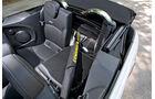 Mini Cooper Cabrio, Detail, Rückbank, offen
