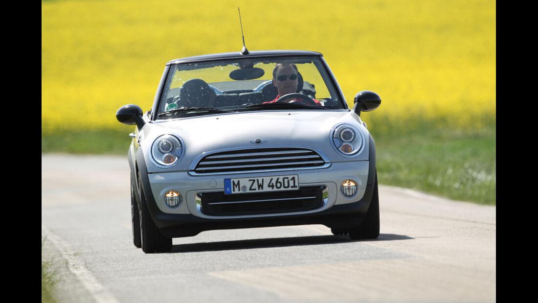 Mini Cooper Cabrio, Frontansicht, offen