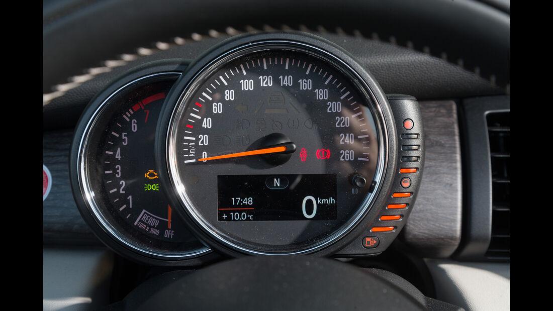 Mini Cooper Cabrio, Rundinstrument