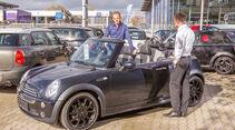 Mini Cooper Cabrio, Seitenansicht, Händler