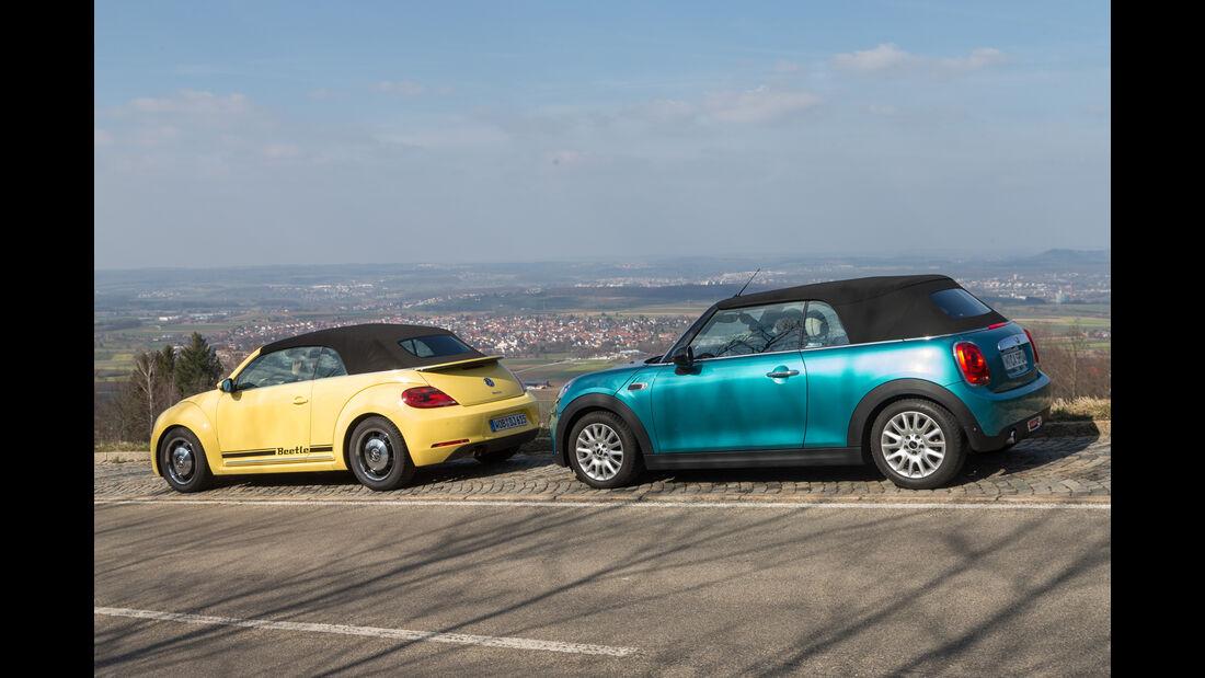 Mini Cooper Cabrio, VW Beetle Cabrio 1.4 TSI, Seitenansicht